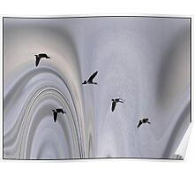 Geese in the Jet Stream Poster