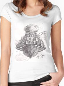 Laputa- Castle in the Sky Women's Fitted Scoop T-Shirt