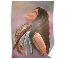 Resting IN God (oil) Christian ART works Poster