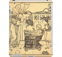 Walter Crane's Painting Book 1889 13 - For the Child Lines iPad Case/Skin