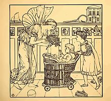 Walter Crane's Painting Book 1889 13 - For the Child Lines by wetdryvac