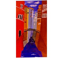 Venetian canal 2 (semi abstract) Photographic Print