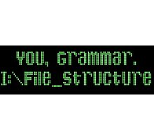 You, Grammar. I:\File_Structure Photographic Print