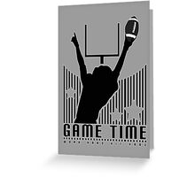 Game Time - Football (Grey) Greeting Card