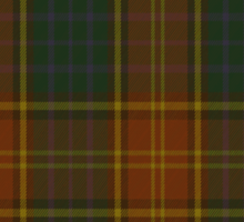 00352 Roscommon County District Tartan  Sticker