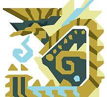 Zinogre Monster Hunter Design  by niymi