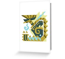 Zinogre Monster Hunter Design  Greeting Card