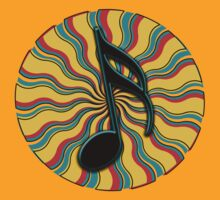 Summertime Semiquaver - 16th Note Music Symbol by VisionQuestArts