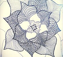 For Simone. Doodle fineliner flower  by AnnestiMeets