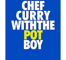 Chef Curry With The Pot Boy  Photographic Print
