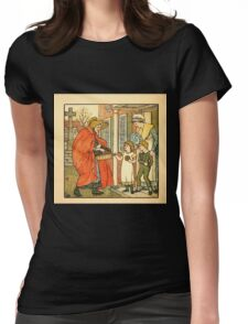 Walter Crane's Painting Book 1889 28 - Hot Cross Buns Color Womens Fitted T-Shirt