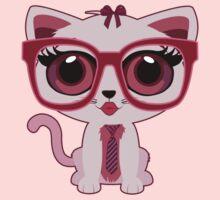 Kitten Nerd Kids Tee
