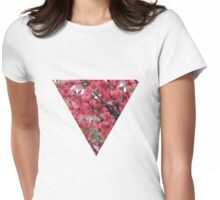 Pink spring Womens Fitted T-Shirt