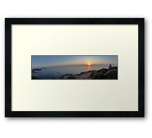 Limnos panoramic Framed Print