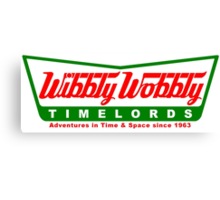 Wibbly Wobbly Timelords Canvas Print