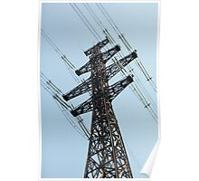 high voltage power line Poster