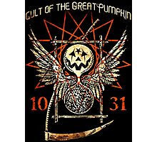Cult of the Great Pumpkin: Thanatos Hourglass Photographic Print