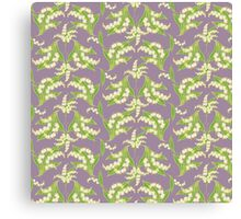 Lily of the Valley Pattern on Mauve Canvas Print