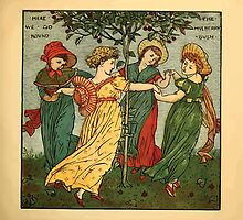 Walter Crane's Painting Book 1889 53 - Here We Go Round The Mulberry Bush Color by wetdryvac