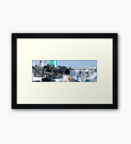 barrel heavy machine gun  Framed Print