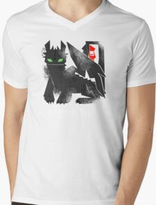 Night Fury Mens V-Neck T-Shirt