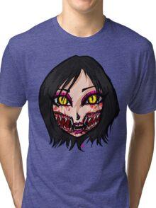 Mortal Kombat x  - Chibi Mileena Face Tri-blend T-Shirt