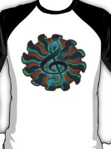 Psychedelic Treble Clef / G Clef Music Symbol T-Shirt