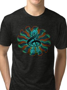Psychedelic Treble Clef / G Clef Music Symbol Tri-blend T-Shirt