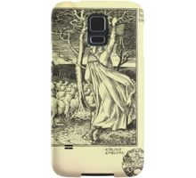 The shepheard's calender twelve aeglogues proportionable to the twelve monethes Newly adorned with twelve pictures and other devices by Walter Crane 1898 129 - December Samsung Galaxy Case/Skin