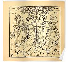 Walter Crane's Painting Book 1889 52 - Here We Go Round The Mulberry Bush Lines Poster