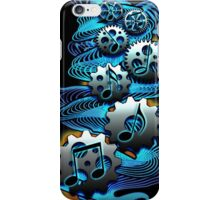 Music Engineer - Music Notes & Gears (blue) iPhone Case/Skin