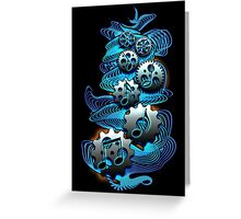 Music Engineer - Music Notes & Gears (blue) Greeting Card