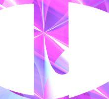 Greek Phi   Shiny Purple Button   Fractal Art Fashion Sticker