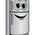 Stainless Steel Refrigerator Cartoon by Graphxpro