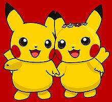 Mr. & Mrs. Pikachu by Skull And Cubone Society