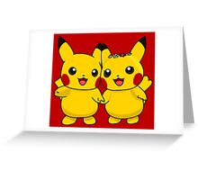 Mr. & Mrs. Pikachu Greeting Card