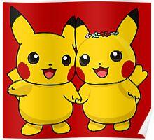 Mr. & Mrs. Pikachu Poster