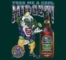 Evil Clown T Shirt Midget Toss by bear77
