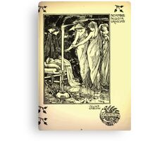 The shepheard's calender twelve aeglogues proportionable to the twelve monethes Newly adorned with twelve pictures and other devices by Walter Crane 1898 119 - November Canvas Print