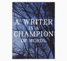 A Writer is a Champion of Words Kids Clothes