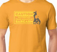 Llama Kuzco - May Contain Trace Amounts of Sarcasm Unisex T-Shirt