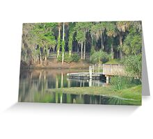 Gemini Springs Park, Debary, Florida Greeting Card