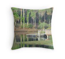 Gemini Springs Park, Debary, Florida Throw Pillow