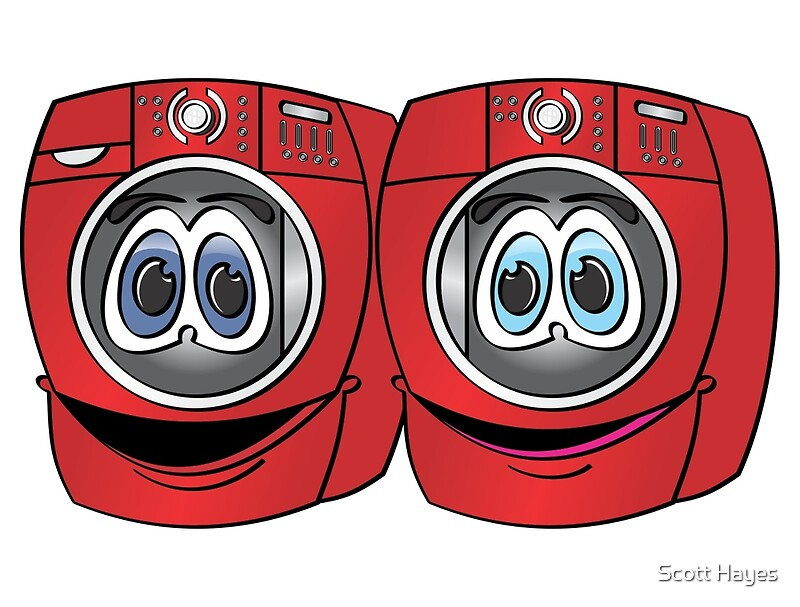 Cartoon Washer And Dryer ~ Quot red front load washer dryer cartoon by graphxpro redbubble