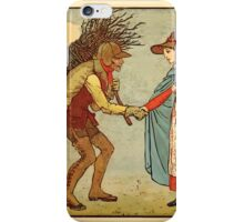 Walter Crane's Painting Book 1889 24 - The Leather Man Color iPhone Case/Skin