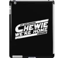 Chewie We're Home V03 Distressed White iPad Case/Skin