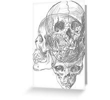 Anatomy Skulls Greeting Card