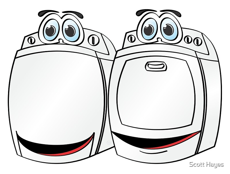 Cartoon Washer And Dryer ~ Quot washer dryer cartoon photographic prints by graphxpro
