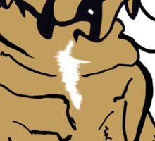 monocle pug Sticker
