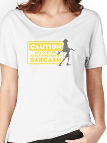 Human Kuzco - May Contain Trace Amounts of Sarcasm Women's Relaxed Fit T-Shirt